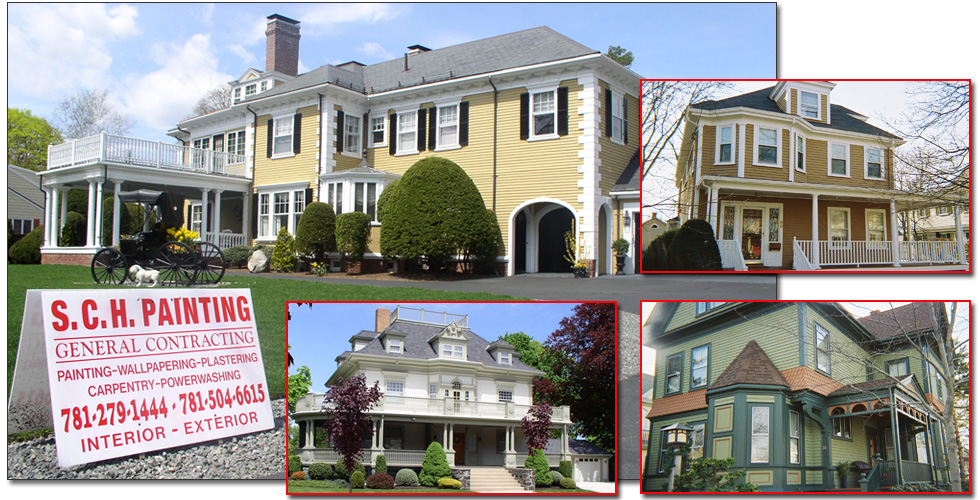 Before and After Image Portfolio of Exterior House Painting in Melrose Mass of Amazing Victorian Homes and Other Beautiful Houses